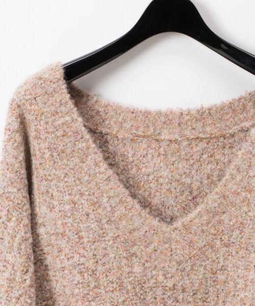 GRACE CONTINENTAL / グレースコンチネンタル ニット・セーター | ネップVネックニットトップ | 詳細1