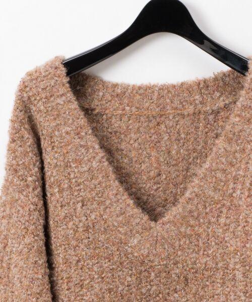 GRACE CONTINENTAL / グレースコンチネンタル ニット・セーター | ネップVネックニットトップ | 詳細6