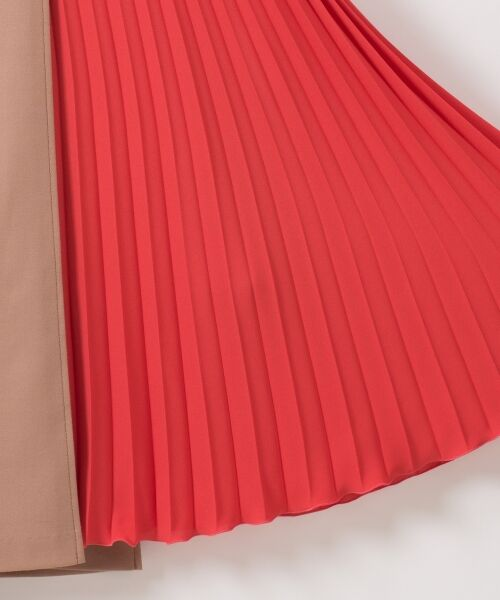 GRACE CONTINENTAL / グレースコンチネンタル ミニ・ひざ丈スカート | 【オンライン限定】配色マチプリーツスカート | 詳細11
