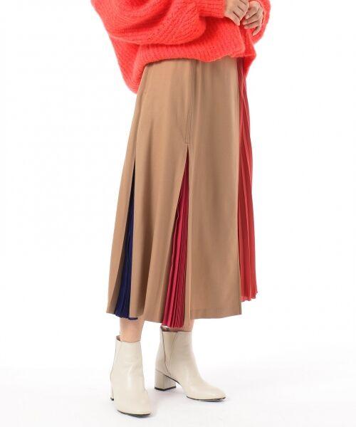 GRACE CONTINENTAL / グレースコンチネンタル ミニ・ひざ丈スカート | 【オンライン限定】配色マチプリーツスカート | 詳細2