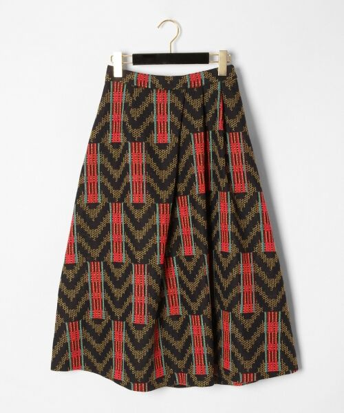 GRACE CONTINENTAL / グレースコンチネンタル ミニ・ひざ丈スカート | キカジャガードスカート(ネイビー)