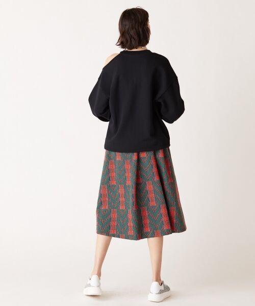 GRACE CONTINENTAL / グレースコンチネンタル ミニ・ひざ丈スカート | キカジャガードスカート | 詳細8