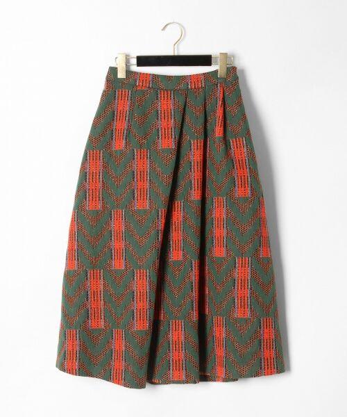 GRACE CONTINENTAL / グレースコンチネンタル ミニ・ひざ丈スカート | キカジャガードスカート(グリーン)