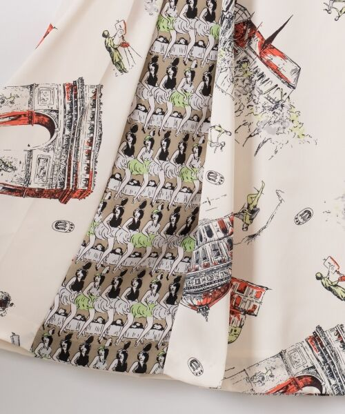 GRACE CONTINENTAL / グレースコンチネンタル ミニ・ひざ丈スカート   コンビプリントスカート   詳細7
