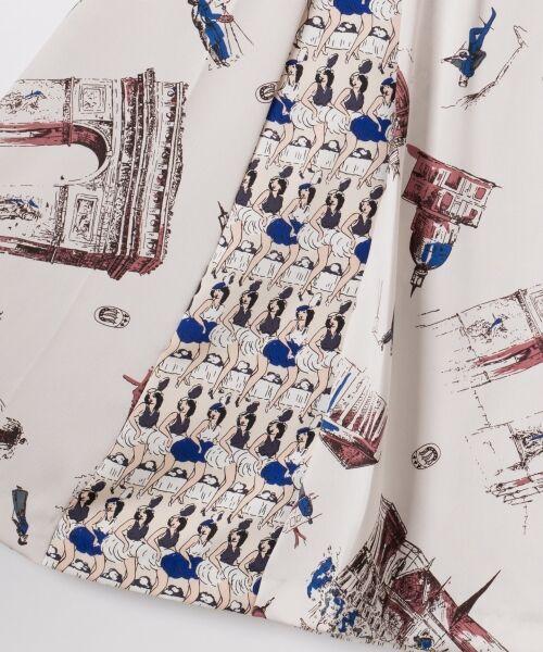 GRACE CONTINENTAL / グレースコンチネンタル ミニ・ひざ丈スカート   コンビプリントスカート   詳細15