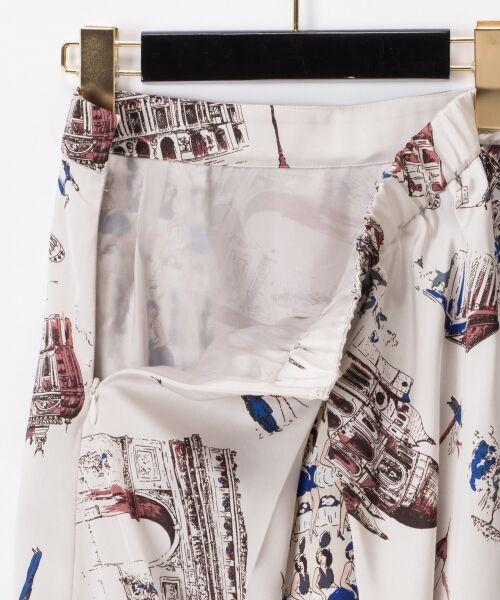 GRACE CONTINENTAL / グレースコンチネンタル ミニ・ひざ丈スカート   コンビプリントスカート   詳細18