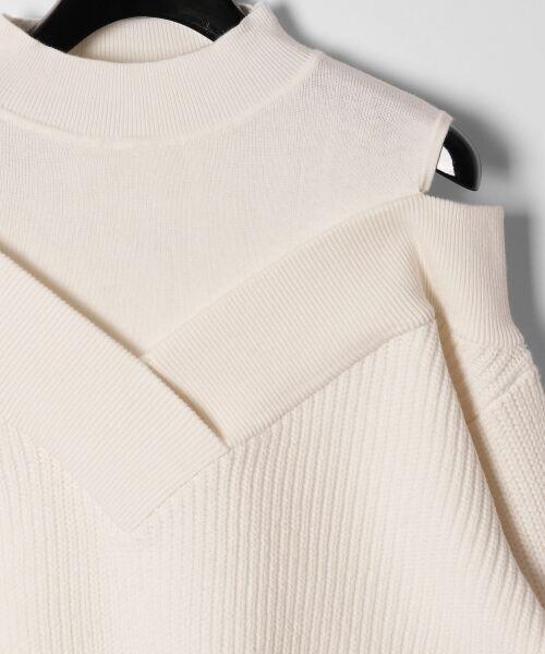 GRACE CONTINENTAL / グレースコンチネンタル ニット・セーター | アシメショルダーニットトップ | 詳細1