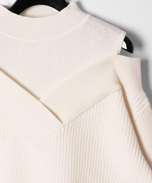 GRACE CONTINENTAL / グレースコンチネンタル ニット・セーター | アシメショルダーニットトップ | 詳細2