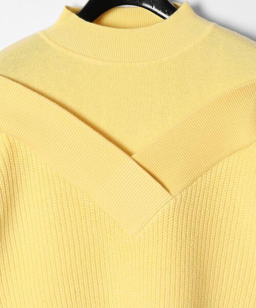 GRACE CONTINENTAL / グレースコンチネンタル ニット・セーター | アシメショルダーニットトップ | 詳細12