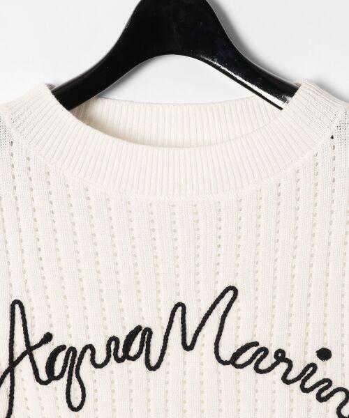 GRACE CONTINENTAL / グレースコンチネンタル ニット・セーター | コード刺繍ニットトップ | 詳細4