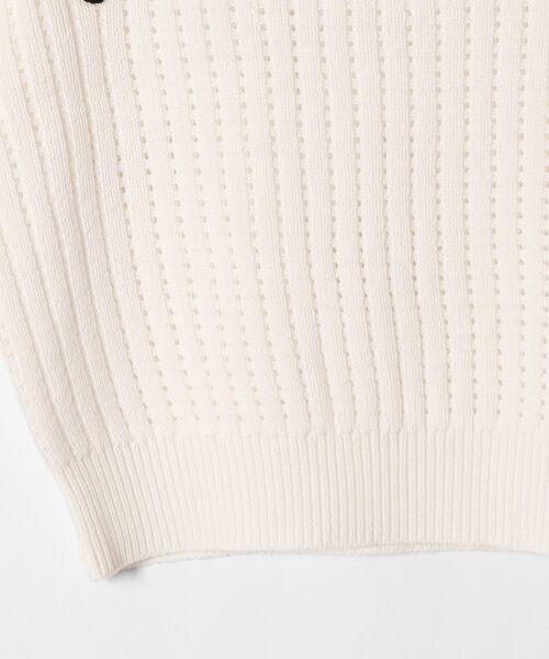 GRACE CONTINENTAL / グレースコンチネンタル ニット・セーター | コード刺繍ニットトップ | 詳細6