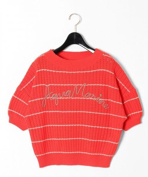 GRACE CONTINENTAL / グレースコンチネンタル ニット・セーター | コード刺繍ニットトップ(オレンジ)