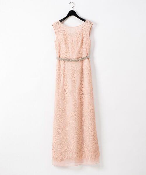 GRACE CONTINENTAL / グレースコンチネンタル ドレス | コードレースドレス(ピンク)