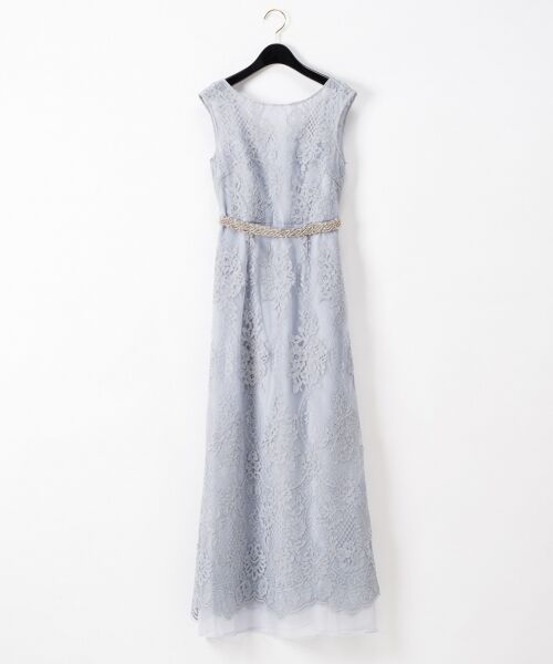 GRACE CONTINENTAL / グレースコンチネンタル ドレス | コードレースドレス(ブルー)