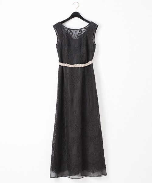 GRACE CONTINENTAL / グレースコンチネンタル ドレス | コードレースドレス(ブラック)