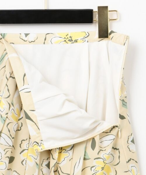 GRACE CONTINENTAL / グレースコンチネンタル ミニ・ひざ丈スカート | フラワープリントプリーツスカート | 詳細7