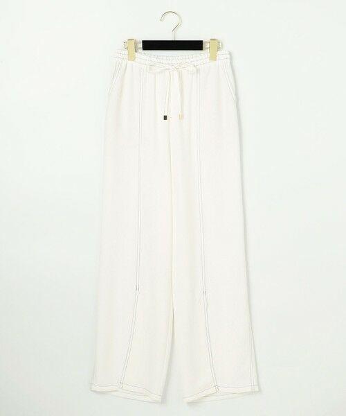 GRACE CONTINENTAL / グレースコンチネンタル その他パンツ   セミワイドイージーパンツ(ホワイト)