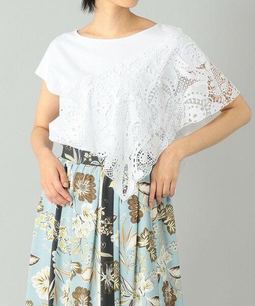 GRACE CONTINENTAL / グレースコンチネンタル カットソー   刺繍レーストップ(ホワイト)