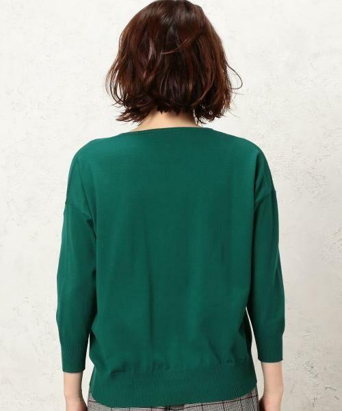 green label relaxing / グリーンレーベル リラクシング ニット・セーター | [手洗い可能] KC カタアゼx天竺 Vネック ニット | 詳細5