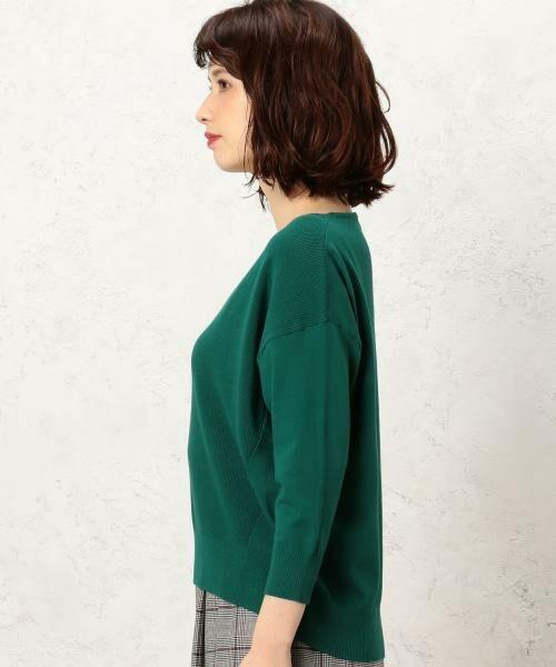 green label relaxing / グリーンレーベル リラクシング ニット・セーター | [手洗い可能] KC カタアゼx天竺 Vネック ニット | 詳細7