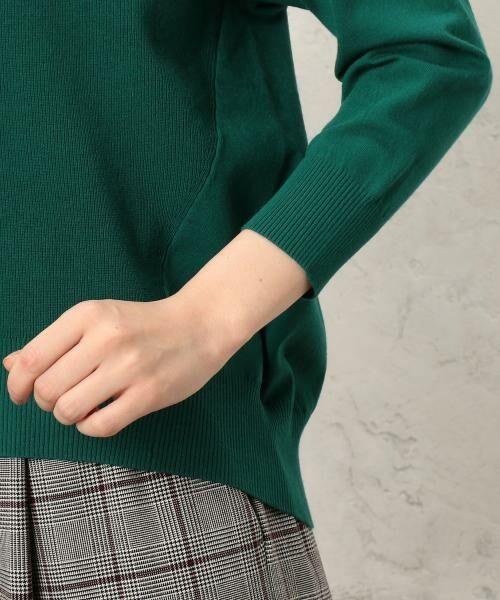 green label relaxing / グリーンレーベル リラクシング ニット・セーター | [手洗い可能] KC カタアゼx天竺 Vネック ニット | 詳細10