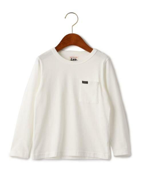 green label relaxing / グリーンレーベル リラクシング ベビー・キッズウエア | WEB限定【キッズ】LEE(リー) クルーネック ポケット Tシャツ(WHITE)
