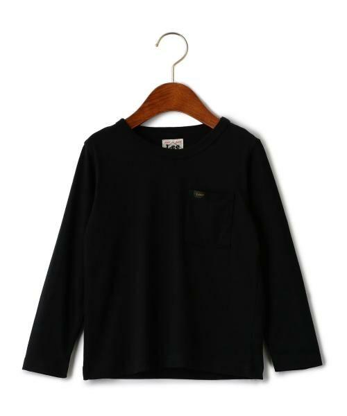 green label relaxing / グリーンレーベル リラクシング ベビー・キッズウエア | WEB限定【キッズ】LEE(リー) クルーネック ポケット Tシャツ(BLACK)