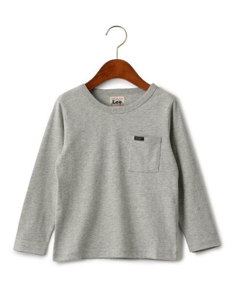 green label relaxing / グリーンレーベル リラクシング ベビー・キッズウエア | WEB限定【キッズ】LEE(リー) クルーネック ポケット Tシャツ(MD.GRAY)