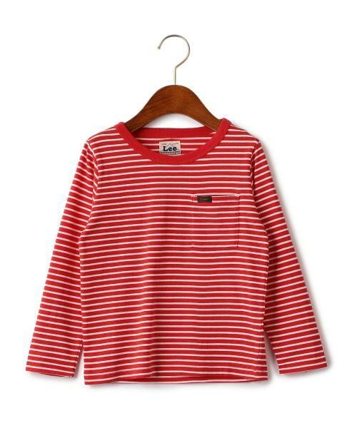 green label relaxing / グリーンレーベル リラクシング ベビー・キッズウエア | WEB限定【キッズ】LEE(リー) クルーネック ポケット Tシャツ(RED)