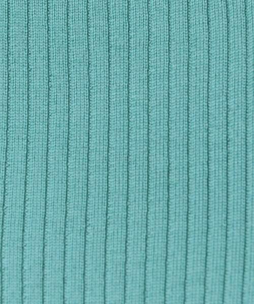 green label relaxing / グリーンレーベル リラクシング ニット・セーター | [手洗い可能] CR W リブ クルーネック 12G ニット | 詳細16