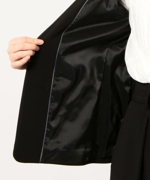 green label relaxing / グリーンレーベル リラクシング ノーカラージャケット | [手洗い可能/パウダリー]◆D セットアップ ノーラペル ジャケット | 詳細2