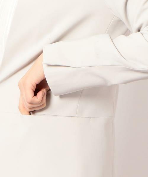 green label relaxing / グリーンレーベル リラクシング ノーカラージャケット | [手洗い可能/パウダリー]◆D セットアップ ノーラペル ジャケット | 詳細13