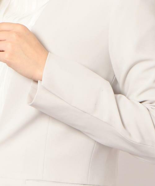 green label relaxing / グリーンレーベル リラクシング ノーカラージャケット | [手洗い可能/パウダリー]◆D セットアップ ノーラペル ジャケット | 詳細9