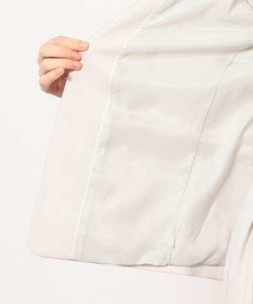 green label relaxing / グリーンレーベル リラクシング ノーカラージャケット | [手洗い可能/パウダリー]◆D セットアップ ノーラペル ジャケット | 詳細11