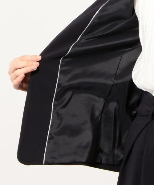 green label relaxing / グリーンレーベル リラクシング ノーカラージャケット | [手洗い可能/パウダリー]◆D セットアップ ノーラペル ジャケット | 詳細18