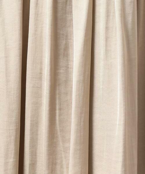 green label relaxing / グリーンレーベル リラクシング ミニ・ひざ丈スカート | NFC Pサテン ギャザーゴム フレアスカート | 詳細2