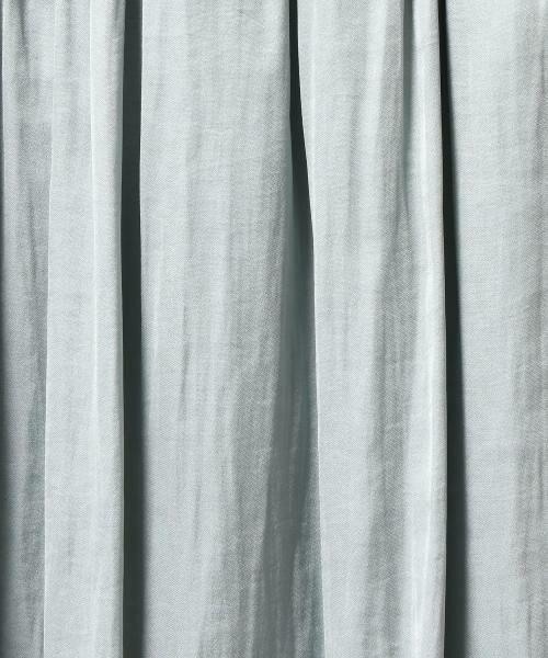 green label relaxing / グリーンレーベル リラクシング ミニ・ひざ丈スカート | NFC Pサテン ギャザーゴム フレアスカート | 詳細13