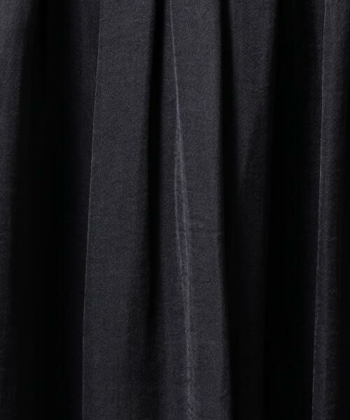 green label relaxing / グリーンレーベル リラクシング ミニ・ひざ丈スカート | NFC Pサテン ギャザーゴム フレアスカート | 詳細17