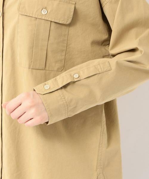 green label relaxing / グリーンレーベル リラクシング シャツ・ブラウス | NFC コットンリヨセル ダブルポケット スキッパー シャツ | 詳細6