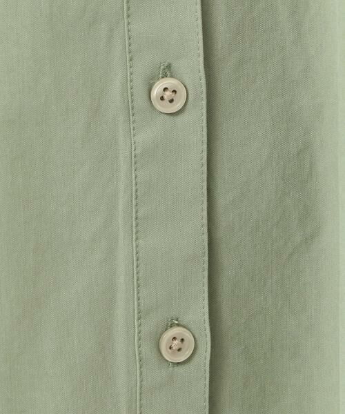 green label relaxing / グリーンレーベル リラクシング シャツ・ブラウス | NFC コットンリヨセル ダブルポケット スキッパー シャツ | 詳細12