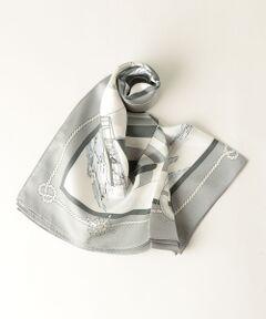 マリンプリントが華やかなシルクスカーフ。<br>大判サイズのスカーフは、さらりと1つ結びするだけで様になります!<br>春のカットソーやハイゲージニットにプラスしてみて下さい。<br><br><font color=purple>店舗へお問い合わせの際は、全国のgreen label relaxing 各店舗まで下記の品名/品番をお申し付け下さい。<br>品名:FM マリンPRT SILK/SCF 品番:3636-699-0790</font>