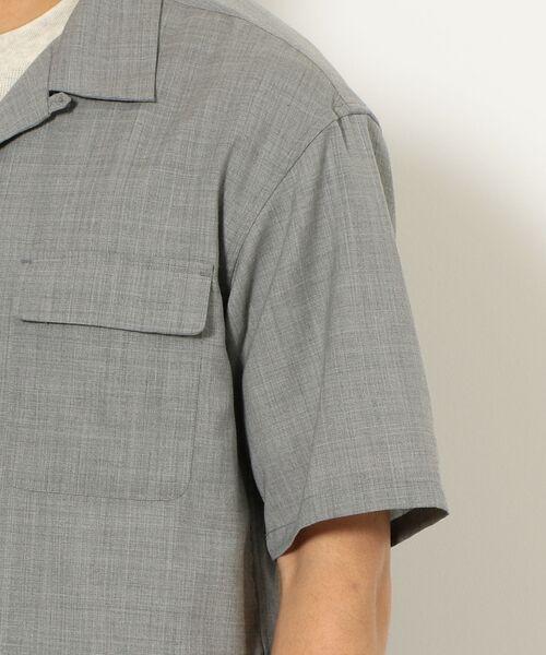 green label relaxing / グリーンレーベル リラクシング シャツ・ブラウス | CM ウォッシャブルトロ Wパッチ オープンカラー 半袖 シャツ | 詳細7