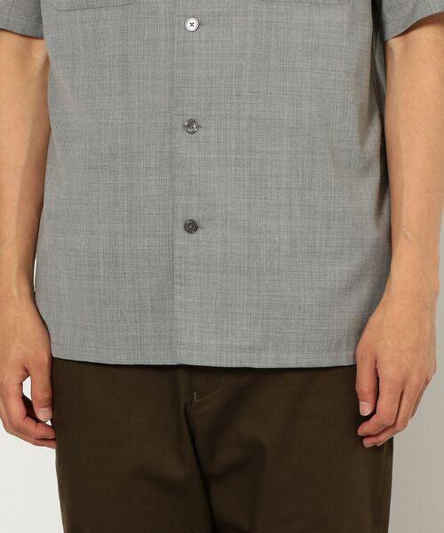 green label relaxing / グリーンレーベル リラクシング シャツ・ブラウス | CM ウォッシャブルトロ Wパッチ オープンカラー 半袖 シャツ | 詳細8