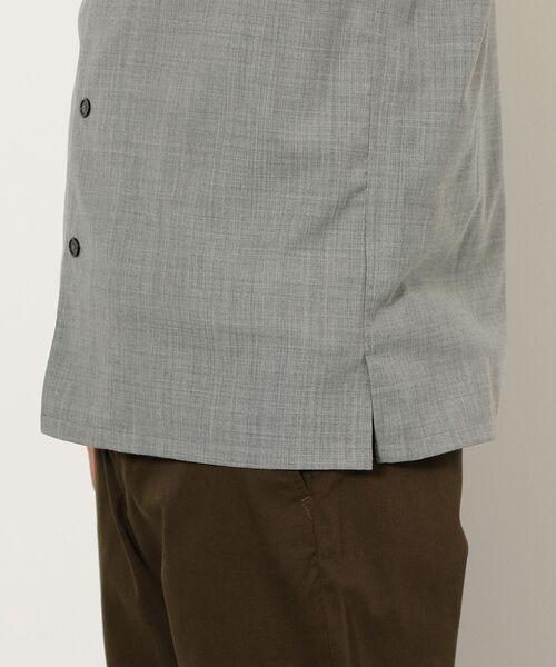 green label relaxing / グリーンレーベル リラクシング シャツ・ブラウス | CM ウォッシャブルトロ Wパッチ オープンカラー 半袖 シャツ | 詳細9