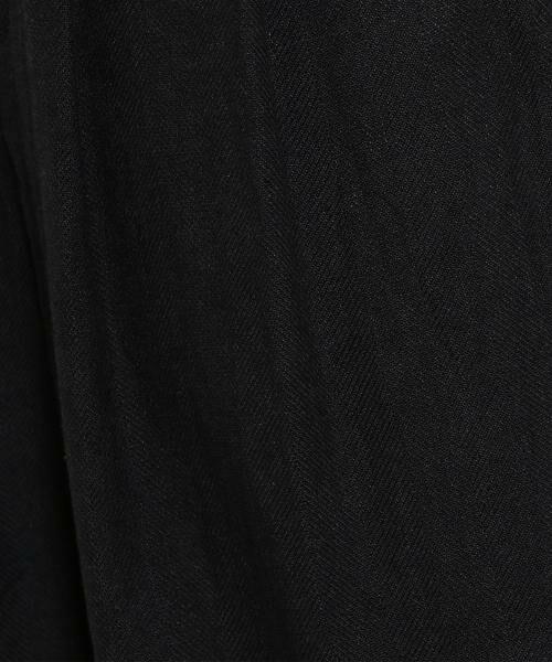green label relaxing / グリーンレーベル リラクシング その他パンツ | SC コットン/LI ヘリンボン ハイウエスト ワイド パンツ | 詳細1