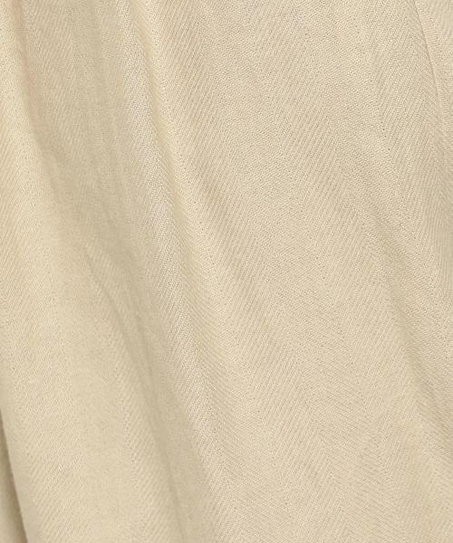 green label relaxing / グリーンレーベル リラクシング その他パンツ | SC コットン/LI ヘリンボン ハイウエスト ワイド パンツ | 詳細2