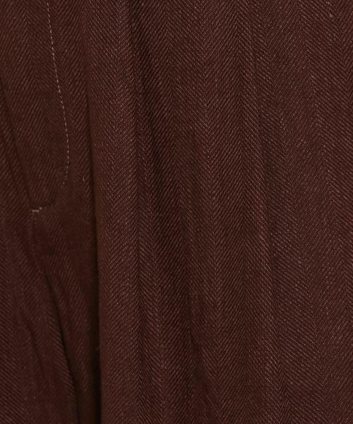 green label relaxing / グリーンレーベル リラクシング その他パンツ | SC コットン/LI ヘリンボン ハイウエスト ワイド パンツ | 詳細11
