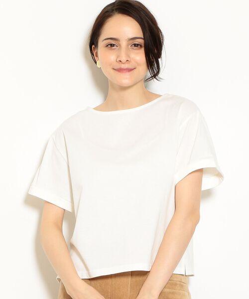 green label relaxing / グリーンレーベル リラクシング カットソー   SC バスクテンジク Tシャツ(OFF WHITE)