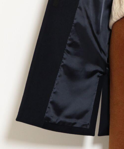 green label relaxing / グリーンレーベル リラクシング その他アウター   ◆KFC アンゴラビーバー スリット ノーカラー コート   詳細26