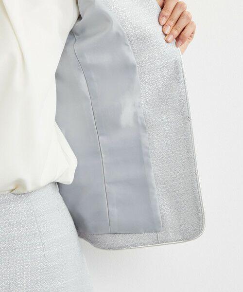 green label relaxing / グリーンレーベル リラクシング ノーカラージャケット | [WEB限定] D ツイード ジャケット/スカート セット | 詳細1